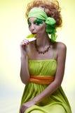 Saint patrick's day girl stock photos