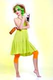 Saint patrick's day girl stock image
