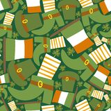 Saint Patrick's day green seamless pattern Stock Photography