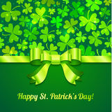 Saint Patrick's day greeting card Royalty Free Stock Images