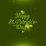 Saint Patrick's Day greeting card. Amazing glossy and shiny Saint Patrick's Day greeting card Stock Photos