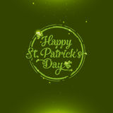 Saint Patrick's Day greeting card. Amazing glossy and shiny Saint Patrick's Day greeting card Royalty Free Stock Image