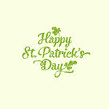 Saint Patrick's Day greeting card. Vintage style Saint Patrick's Day greeting card Stock Photo