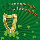 Saint Patrick's day greetings Stock Images