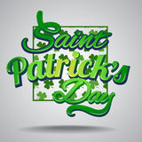 Saint Patrick's Day greetings card Stock Photo