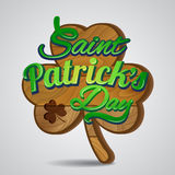 Saint Patrick's Day greetings card Stock Image