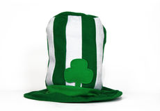 Saint Patrick's Day hat. Green and white Saint Patrick's Day hat Stock Photography