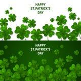 Saint Patrick`s Day Horizontal Banners Royalty Free Stock Photos