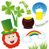 Saint patrick´s day icon set Stock Photo