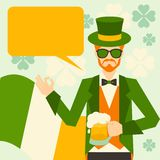 Saint Patrick's Day illustration with hipster Royalty Free Stock Photos