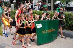 Saint Patrick`s Day Irish Inspirational Dance Group Royalty Free Stock Image