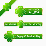 Saint Patrick's day labels Stock Photo