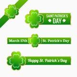 Saint Patrick's day labels Stock Photo