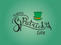Saint Patrick`s day lettering Royalty Free Stock Images