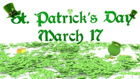 Saint Patrick's Day March 17 Royalty Free Stock Image