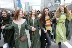 Saint Patrick's Day in Moscow Stock Photo