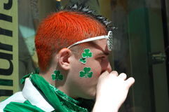 At the Saint Patrick's Day in New York City Stock Photos