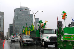 Saint Patrick's day parade in Montreal Stock Photo