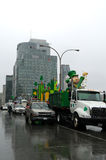 Saint Patrick's day parade in Montreal Royalty Free Stock Image