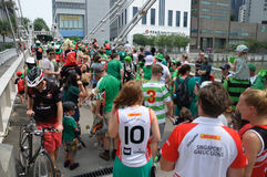 Saint Patrick`s Day parade participants royalty free stock photos