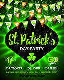 Saint Patrick`s Day party bright invitation poster design Royalty Free Stock Image