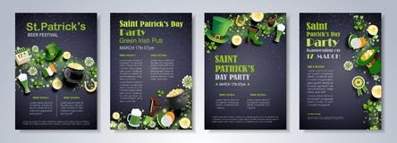 St. Patrick`s Day Poster Royalty Free Stock Image