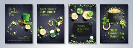 Saint Patrick`s Day party flyer Royalty Free Stock Images