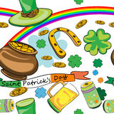 Saint patrick's day pattern Stock Photos
