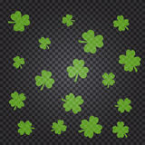 Saint Patrick s day pattern with green clover leaves Royalty Free Stock Images