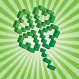 Saint Patrick's Day Pixel Shamrock. 3D pixel shamrock, the Saint Patrick's day symbol Royalty Free Stock Photo