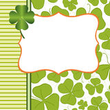 Saint Patrick's Day Postcard Royalty Free Stock Images
