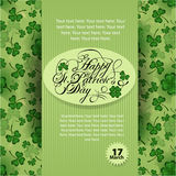 Saint Patrick`s day poster. Royalty Free Stock Photography