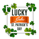 Saint Patrick's Day sale banner, advertising, vector Royalty Free Stock Photos