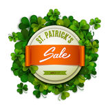 Saint Patrick's Day sale banner, advertising, vector Royalty Free Stock Photo