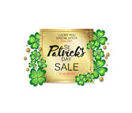 Saint Patrick`s Day sale banner, advertising, vector illustration Royalty Free Stock Image