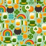 Saint Patrick's Day seamless pattern Stock Photo