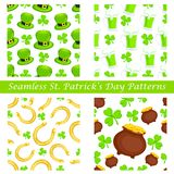 Saint Patrick's Day seamless pattern Stock Photography