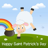 Saint Patrick s Day Sheep & Pot of Gold Stock Image