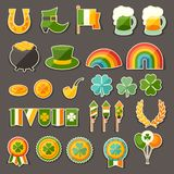 Saint Patrick's Day sticker icons set Royalty Free Stock Images
