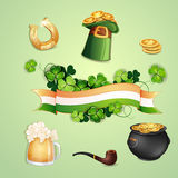 Saint Patrick's Day symbols Stock Photos