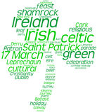 Saint Patrick's Day tag cloud shamrock Royalty Free Stock Photo