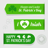Saint Patrick's day tags Royalty Free Stock Photography