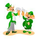 Saint Patrick`s day. Two happy Englishmen Royalty Free Stock Images