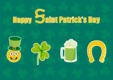 Saint Patrick's Day vector. Holiday background. Vector illustration. Festive card. St. Patrick background. Festive vector illustration. Funny vector illustration Royalty Free Stock Image
