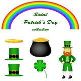 Saint Patrick`s Day vector set. vector illustration