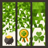 Saint Patrick's Day vertical banners Royalty Free Stock Photos