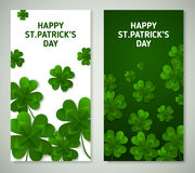 Saint Patrick`s Day Vertical Banners Royalty Free Stock Photo