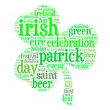 Saint Patrick s Day Word Cloud Shamrock Stock Images