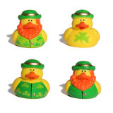 Saint Patrick's Ducks Royalty Free Stock Image