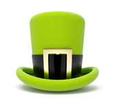 Saint patrick's green top hat Stock Image